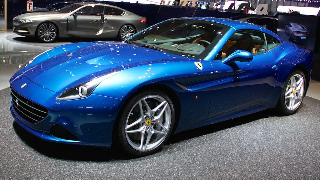 Ferrari California at the Geneva Auto Salon 2014