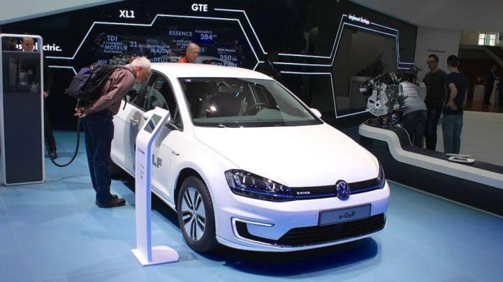 Volkswagen E Golf at Geneva Auto Salon 2014