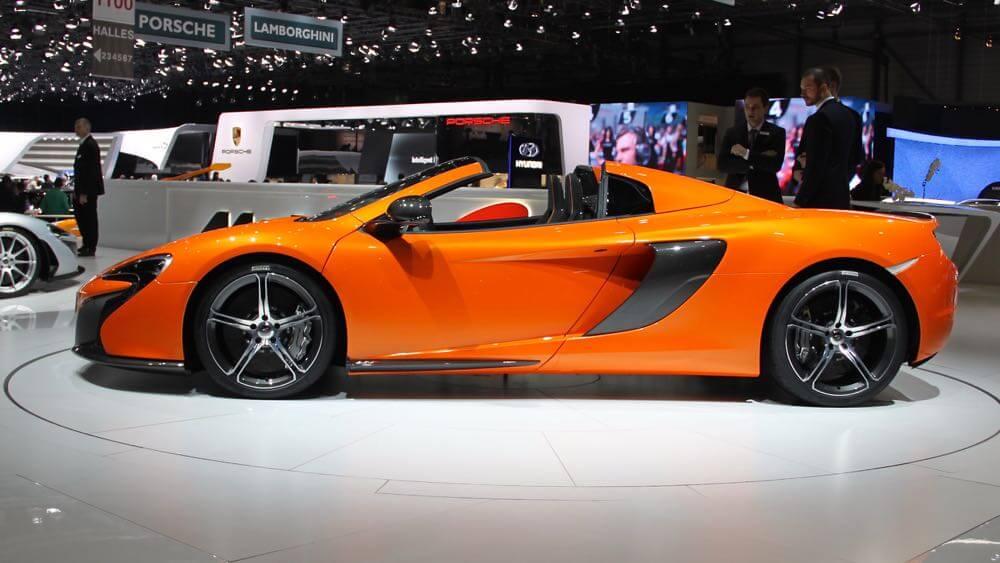Orange McLaren 650S