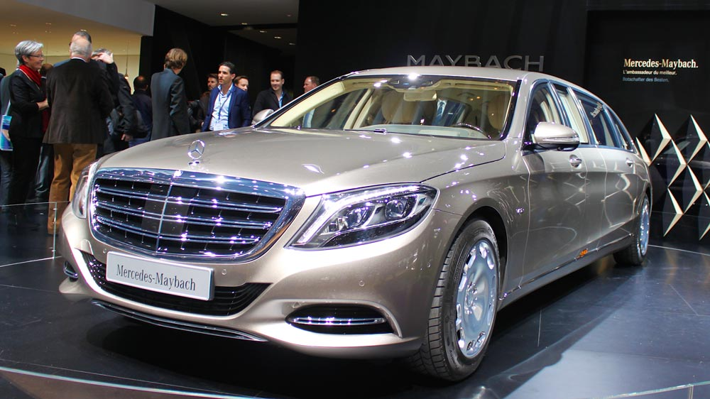 Mercedes Maybach S600 Pullman limousine at Geneva Auto Salon 2015