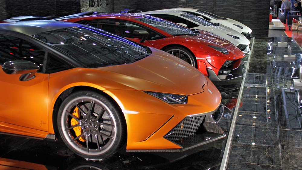 DMC Lamborghinis at Geneva Auto Salon 2015