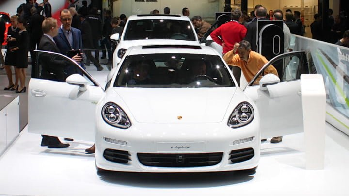 Porsche e-Hybrid at the Geneva Auto Show 2015
