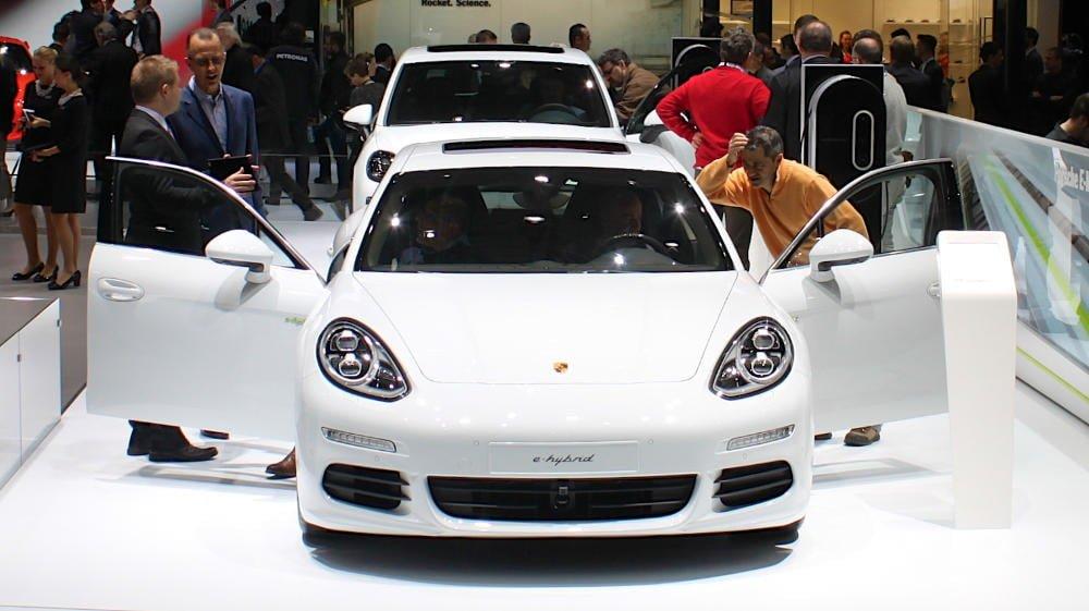Porsche e-Hybrid at the Geneva Auto Show 2015
