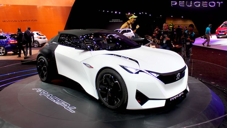 Peugeot Fractal shown at the Geneva Auto Salon 2016