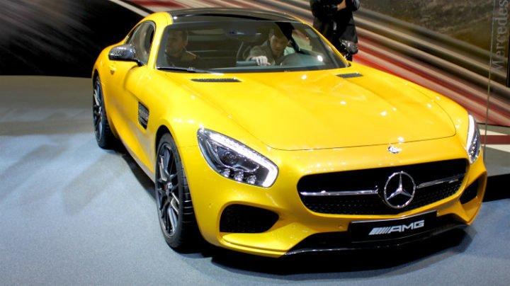 Yellow Mercedes AMG GT Geneva 2016