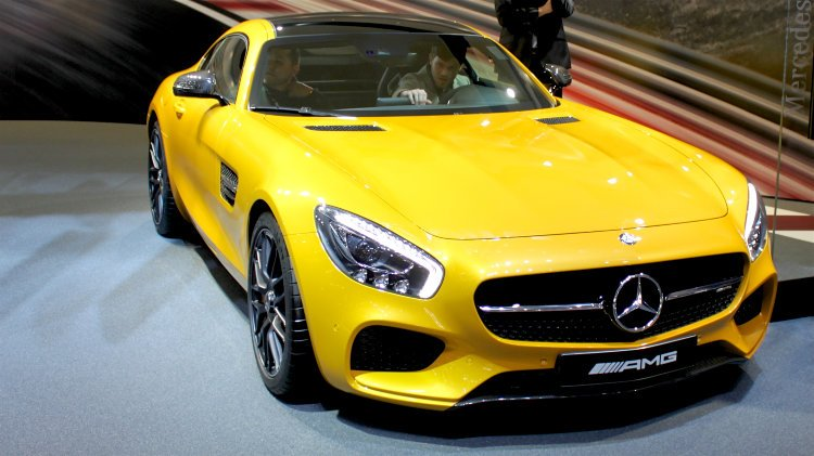 Yellow Mercedes AMG GT Geneva 2016