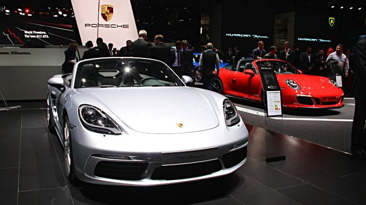 Porsche 718 Boxster at Geneva