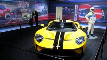 Yellow Ford GT Geneva 2017