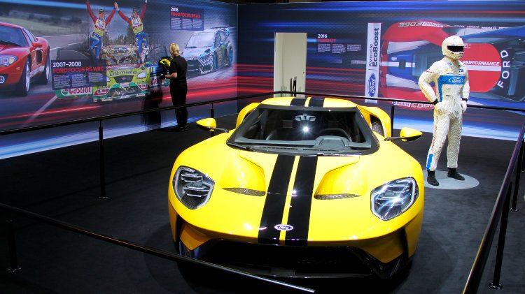 Yellow Ford GT Geneva 2017