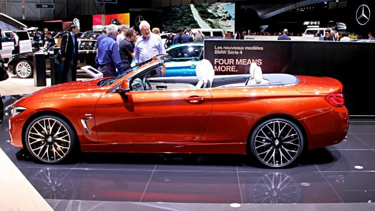 Orange BMW 4 Series Cabriolet