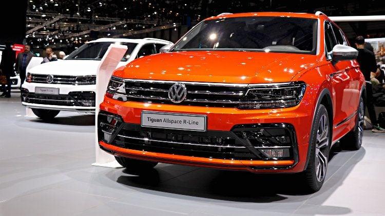 VW Tiguan Allspace R-Line at Geneva 2018