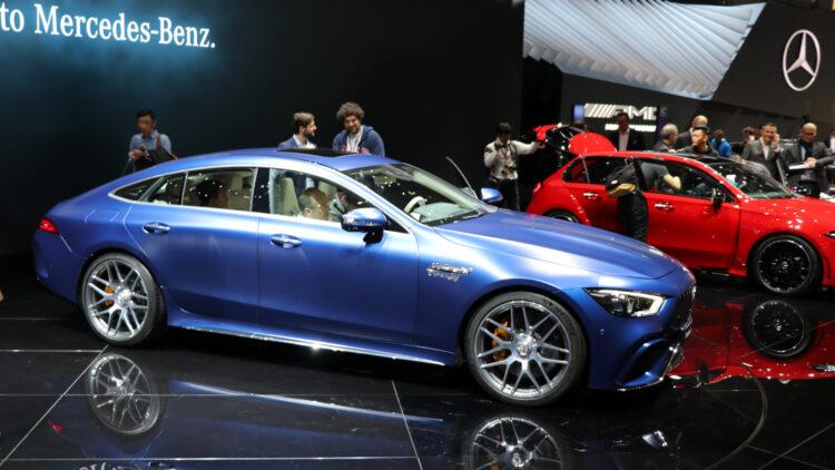 Blue Mercedes-Benz AMG GT 63 S