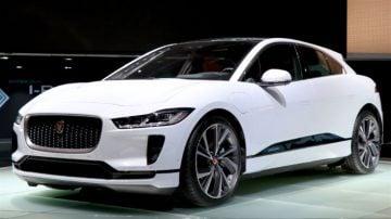 White Jaguar IPace Geneva 2018
