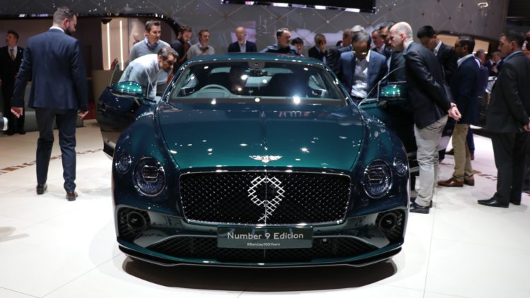 Bentley Number 9 edition. The British  new car market was weaker in 2019 with car sales down 2.4%