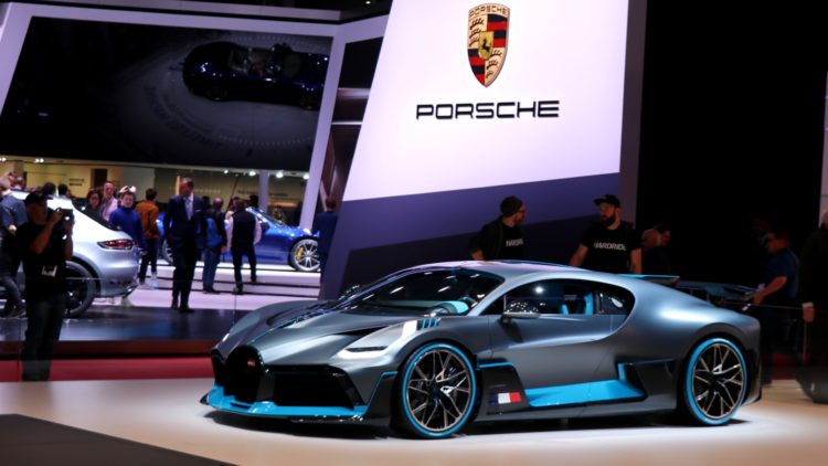 Bugatti and Porsche at Geneva Auto Salon - The Volkswagen Group was the largest carmaker and VW the top-selling car brand in Europe in 2019.