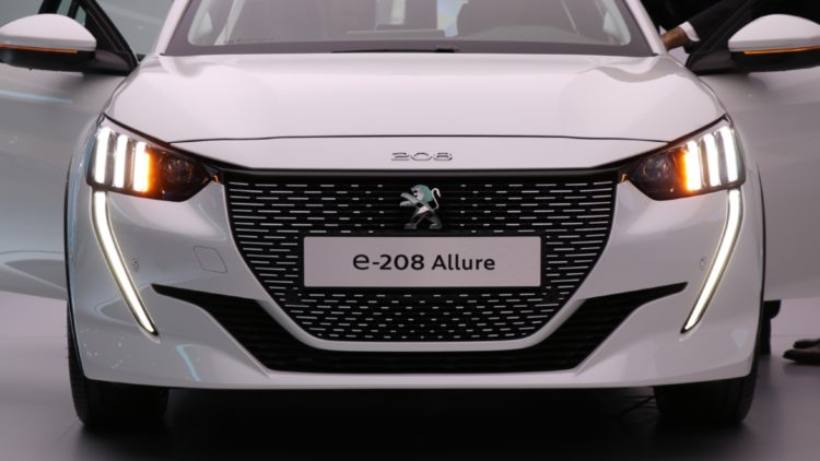 Peugeot e-208 - electric car availability will increase British electric car sales by 260% to 100,00 cars in 2020 according to a forecast.