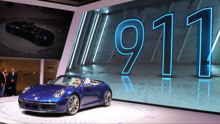 Porsche Carrera 4S Cabriolet at Geneva Auto Salon 2019 - Porsche worldwide sales increased by 10% in 2019.