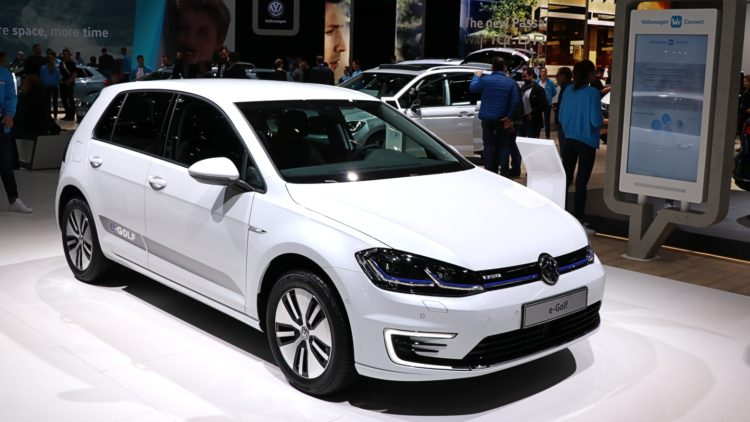 The VW eGolf was the best-selling electric car model in Germany during the first quarter of 2020.