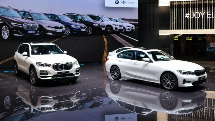 White BMWs in Geneva 2019  During the first half of 2020, BMW was the third best-selling car brand after VW and Mercedes and ahead of Audi and Ford.