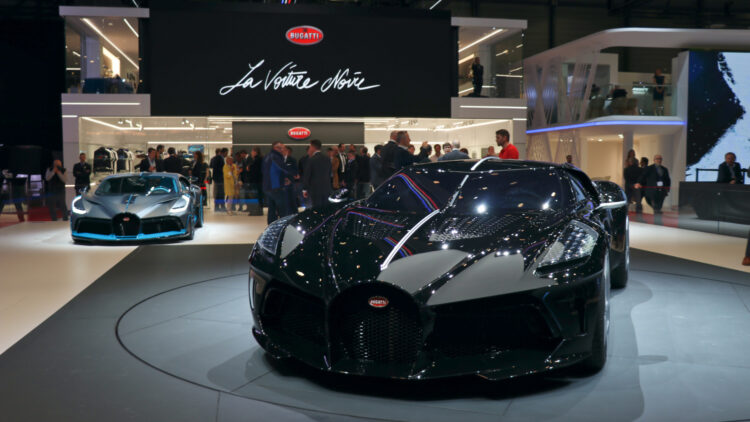 Bugatti La Voiture Noire and Diva - First Half Year 2020: car sales worldwide were much weaker with sharp contractions in all major global new car markets.
