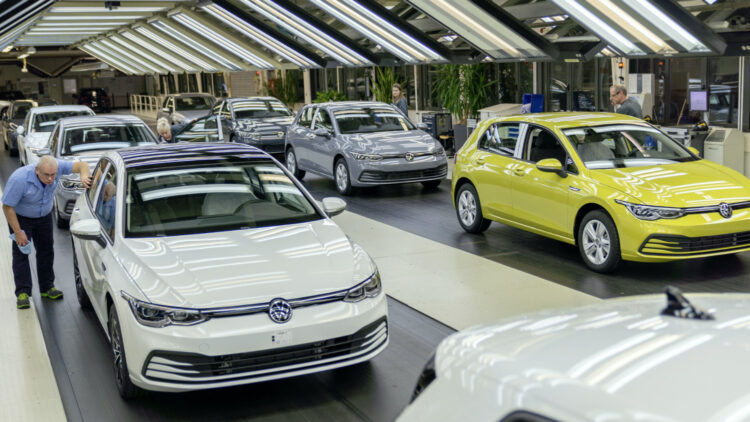 2020 (Q1-Q3) -- Volkswagen was again the best-selling car brand in Germany.  Volkswagen Golf 8 inspected in Wolfsburg, Germany  The VW Golf remained Germany's best-selling car model in 2020 (Q1-Q3)