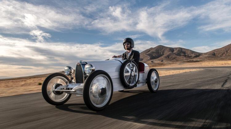 Bugatti Baby II with adult driver