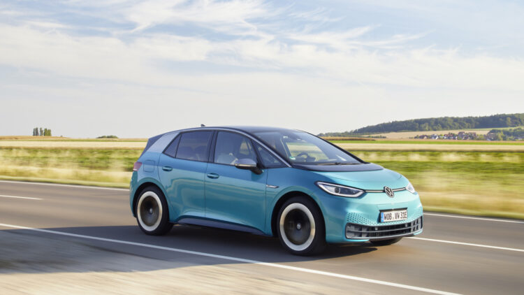 October 2020: car sales in Europe were down 7% but electric vehicle sales increased. The VW ID3 became Europe's best-selling electric car.