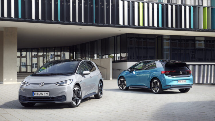 In December 2020, the European new car market contracted by 3.8% but battery-electric car sales increased with the VW ID3 the second most popular car model in Europe behind only the Golf.