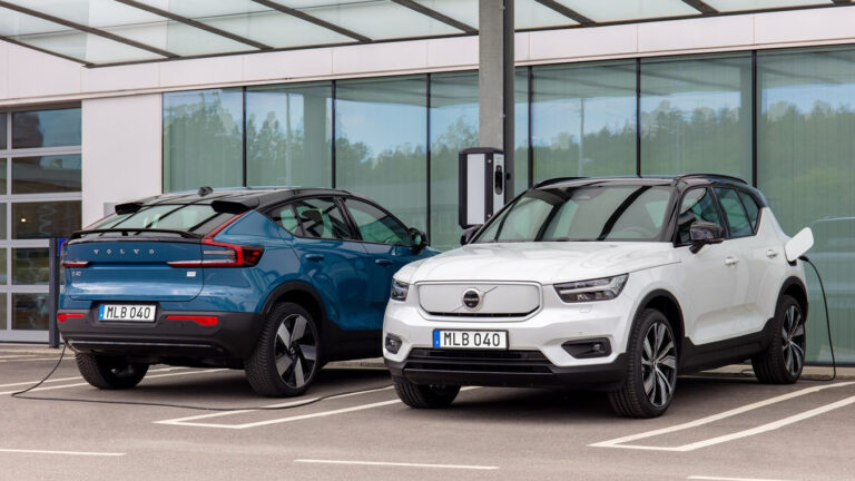 Volvo and Volkswagen are the only top car producers on target to switch to electric vehicle production in Europe by 2030 according to an EV readiness index by Transport & Environment.